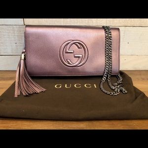 💜RARE💜Authentic Gucci Soho Clutch
